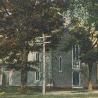 Postcard of the Methodist Church, Conway, Mass.