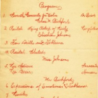 Program of Conway High School Lecture Course Concert and Recital