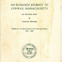 "Program for ""An Evening's Journey to Conway, Massachusetts"""