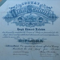 Conway High School Diploma of Hugh Ralston