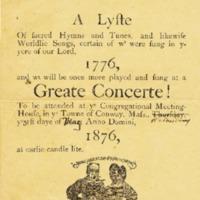 Concert Program, May 1876