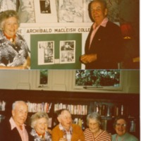 Photographs of Field Memorial Library Party for Opening of Archibald MacLeish Collection