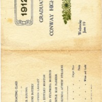Conway High School Graduation Program, Class of 1912