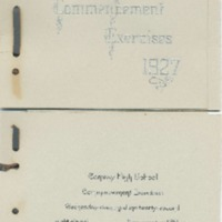 Invitation to Conway High School Graduation, Class of 1927&lt;br /&gt;<br />