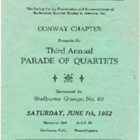 Barbershop Quartet Concert Program
