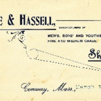 Letterhead of DeWolfe & Hassell Shoes