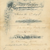 Marriage Certificate for Bush-Pair