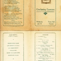 Conway High School Graduation Program, Class of 1907