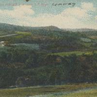 Postcard of View Looking Toward Ashfield from near J.P. Keyes