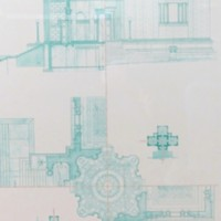 Poster of Field Memorial Library Architectural Drawing