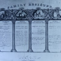 Family Register of Joshua and Anna Vincent