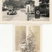 Photographs of Gordon Johnson and Penny Farthing Bicycle