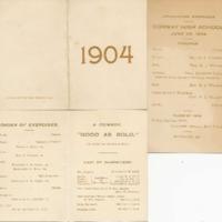 Conway High School Graduation Program, Class of 1904