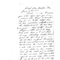 Elias Ford Bradford to Caroline Elizabeth Bradford, June 12, 1864