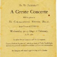 Concert Program, 1886