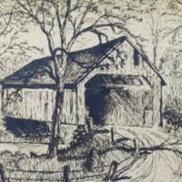 Print of Covered Bridge