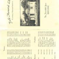 Field Memorial Library Centennial Souvenirs