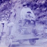 Photograph of Railway Men in Service Car Near Bardwell Ferry Station