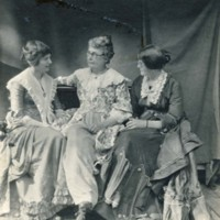 "Photograph of Three Women--""Old Peabody Pew"""