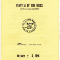 Program for 25th Annual Festival of the Hills