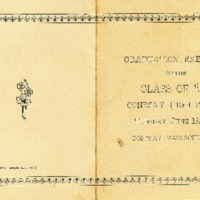Program for Conway High School Commencement, 1901