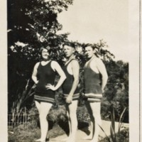 Photograph of the Hassell Family in Swimsuits