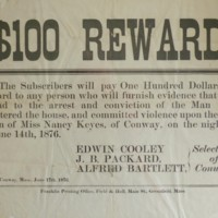 Reward Notice for 1876 Crime