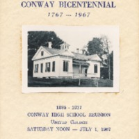 Program for Conway High School Reunion, 1967