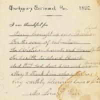 Thanksgiving Testimonial Card