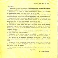 Arthur P. Delabarre to Dear Sir, May 1, 1897, Enclosing Prospectus of the Conway Light & Power Company