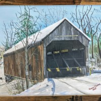 Painting of Conway Covered Bridge