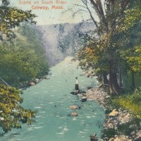 Postcard of South River Scene, Conway, Mass.
