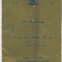 Program of the 50th Anniversary of Evening Star Chapter No. 193