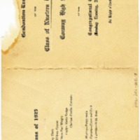 Conway High School Graduation Program, 1925&lt;br /&gt;<br /> &lt;br /&gt;<br />