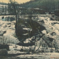 Postcard of Reed's Dam and Falls in Winter
