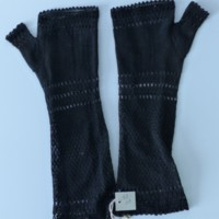 Fingerless Mourning Gloves