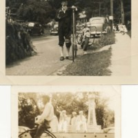Photographs of Galen Hassell and Penny Farthing Bicycle