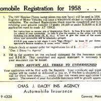 Automobile Registration Renewal Instructions