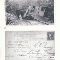 Postcard of Conway Electric Street Railway Derailment