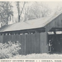 Postcard of Conway Covered Bridge