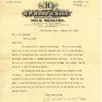 G.H. Hood, H.P. Hood & Sons to Dr. John B. Laidley, January 1, 1910
