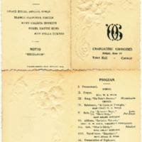 Conway High School Graduation Program, Class of 1906