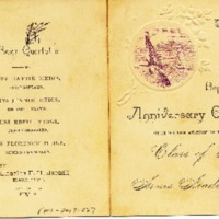 Program for Arms Academy Class of 1888 Anniversary Concert