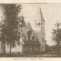 Postcard of the United Church, Conway, Mass.
