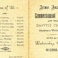 Arms Academy Graduation Program, 1888