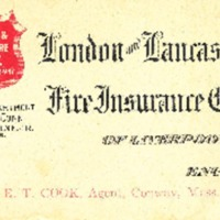 Edwin Tucker Cook's Business Card