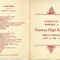 Conway High School Graduation Program, Class of 1905