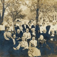 Photograph of 24 Conway Ladies in Front of Newhall Home