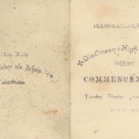 Program for Deerfield Academy and Dickinson High School Commencement, 1884