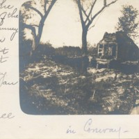 Postcard of Chimney in Ruins of Conway House